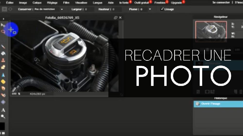 Tutoriel Webmarketing - Recadrer une photo avec le logiciel gratuit